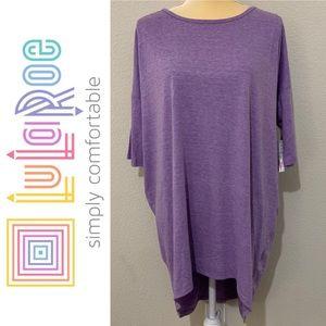 LuLaRoe Solid Purple High Low Oversized Shirt Sz M
